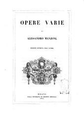 Opere varie di Alessandro Manzoni