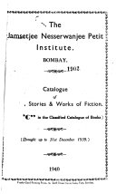 Catalogue of Novels  Stories   Works of Fiction  Class  C  in the Classified Catalogue of Books PDF