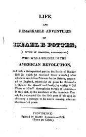 Life and Remarkable Adventures of Israel R. Potter: (a Native of Cranston, Rhode-Island.)