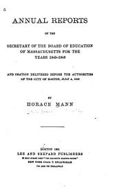 Life and Works of Horace Mann: Volume 4