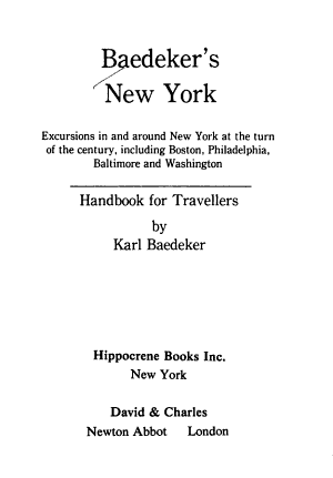 Baedeker's New York