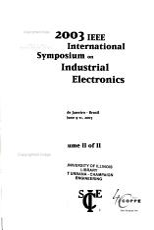 IEEE International Symposium on Industrial Electronics Proceedings PDF
