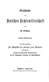 Geschichte der Deutschen Rechtswissenschaft: Band 2