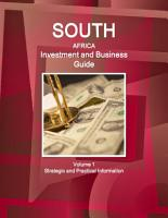 South Africa Investment and Business Guide Volume 1 Strategic and Practical Information PDF