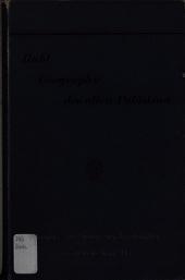 Geographie des alten Palästina