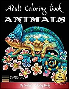 Adult Coloring Book Animals Book