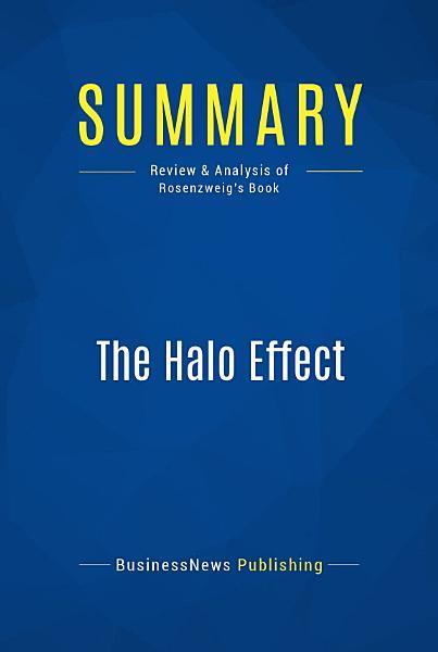 Summary: The Halo Effect