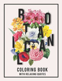Botanical Coloring Book with Relaxing Quotes