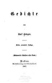 Gesammelte Schriften: Bände 1-2