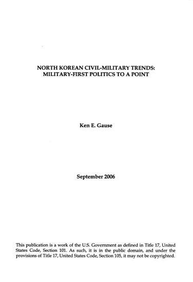 North Korean Civil military Trends PDF