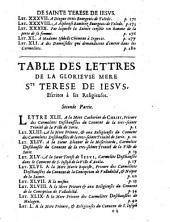 Lettres de Sainte Thérèse de Jésus