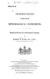 Instructions in the Use of Meteorological Instruments