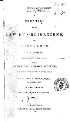 A Treatise on the Law of Obligations  Or Contracts PDF