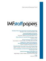 IMF Staff Papers  Volume 51  No  3  2004 PDF