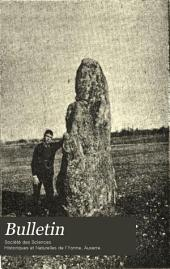Bulletin de la Societe des sciences historiques et naturelles de l'Yonne: Volume47