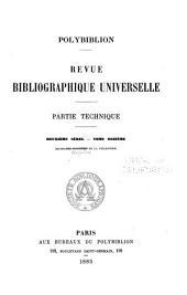 Polybiblion: Revue bibliographique universelle, Volume45