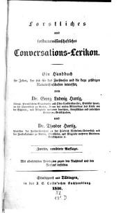 Forstliches und forstnaturwissenschaftliches Conversations-Lexicon