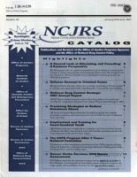 NCJRS Catalog PDF