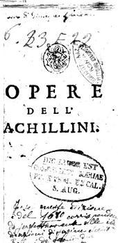 Opere dell'Achillini