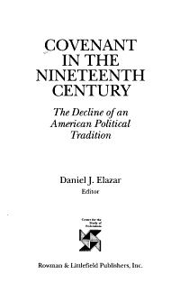 Covenant in the Nineteenth Century PDF