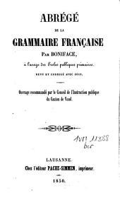 Abrégé de la grammaire française à l'usage des écoles publiques primaires