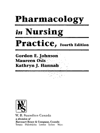 Pharmacology in Nursing Practice PDF