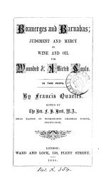 Boanerges and Barnabas  judgment and mercy or wine and oil for wounded   afflicted souls  ed  by F H  Brett PDF