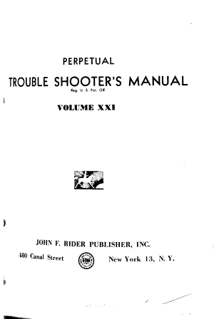 Perpetual Trouble Shooter s Manual
