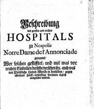 Beschreibung des grossen und reichen Hospitals zu Neapolis Notre Dame de l Annonciade genannt     PDF