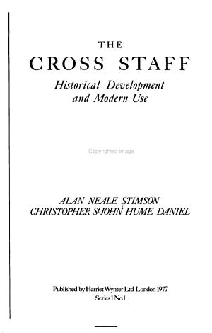 The Cross Staff PDF
