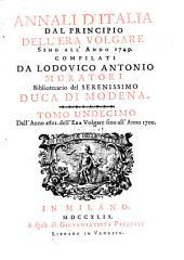 Annali d'Italia dal principio dell'era volgare sino all'anno 1500: Dall'Anno 1601. dell'Era volgare sino all'Anno 1700. 11