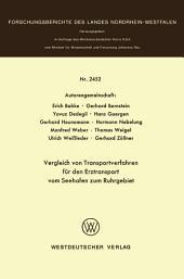 Vergleich von Transportverfahren für den Erztransport vom Seehafen zum Ruhrgebiet