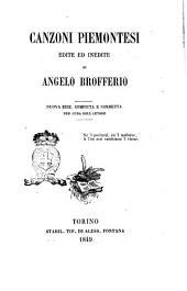Canzoni piemontesi edite ed inedite di Angelo Brofferio