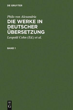 Philo von Alexandria  Die Werke in deutscher   bersetzung PDF