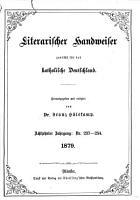 Literarischer Handweiser0 PDF