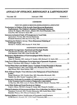 The Annals of Otology, Rhinology & Laryngology