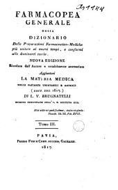 Farmacopea generale ossia dizionario delle preparazioni farmaceutico-mediche piu usitate al nostri tempi...