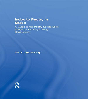 Index to Poetry in Music PDF