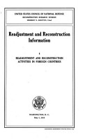 Readjustment and Reconstruction Information PDF