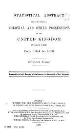 Statistical Abstract for the British Commonwealth: Issues 1884-1898
