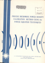 Precise Microwave Power Density Calibration Method Using the Power Equation Techniques, March 1975