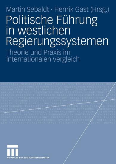 Politische F  hrung in westlichen Regierungssystemen PDF