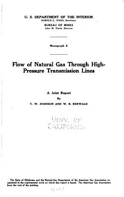 Flow of Natural Gas Through High pressure Transmission Lines