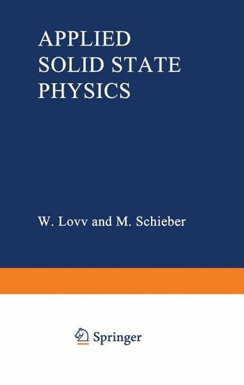 Applied Solid State Physics PDF