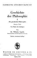 Die griechische Philosophie PDF