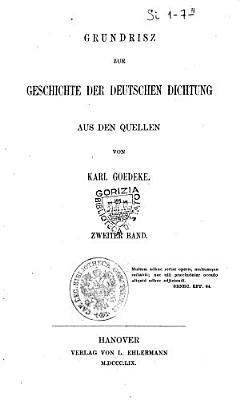 Grundrisz zur Geschichte der deutschen Dichtung aus den Quellen PDF