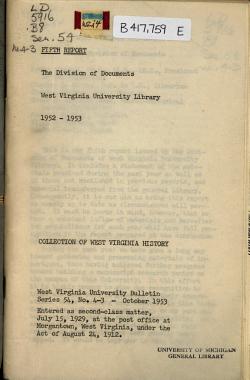 West Virginia University Bulletin PDF