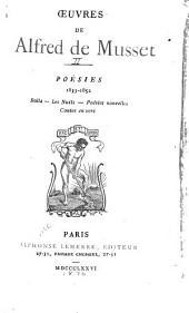 OEuvres de Alfred de Musset ...: Poésies, 1833-1852