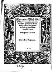Das ander Buch Mosi, Exodus, genant