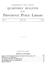 Quarterly Bulletin of the Providence Public Library: Volumes 1-8